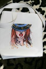Embroidered bag with be quiet design
