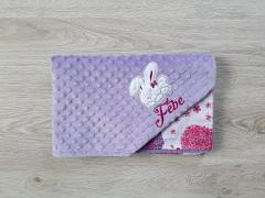 Embroidered wallet with cute rabbit applique free design