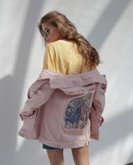 Embroidered jacket with cat and kitty design