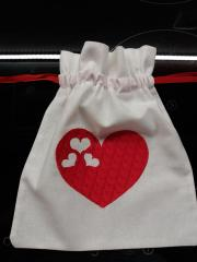 Embroidered bag with love heart free design
