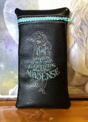 Embroidered handbag Alice from wonderland design