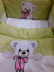 Embroidered bed linen little bear