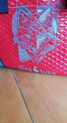 Blue fox embroidery design