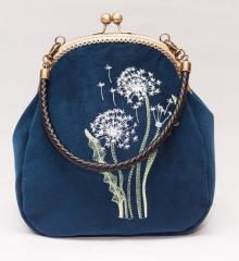 Embroidered bag with light dandelions free design