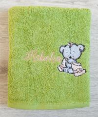 Embroidered towel Teddy bear after bath