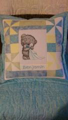 Teddy bear with towel machine embroidery design