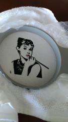 Audrey Hepburn machine embroidery design