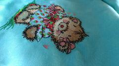 Cute bear embroidery design