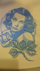 Female fatale embroidery design