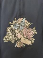 Sleeping girl embroidery design