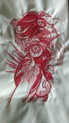 Spiritual girl embroidery design
