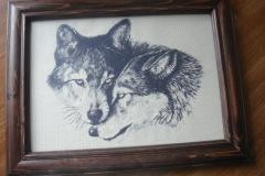 Wolfs embroidered free design