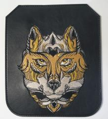 Embroidered cover with Fox in mask design