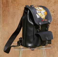 Embroidered backpack with Monday morning design