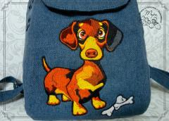 Dachshund free embroidery design