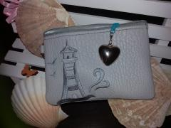 Embroidered purse with Silver Lighthouse free design