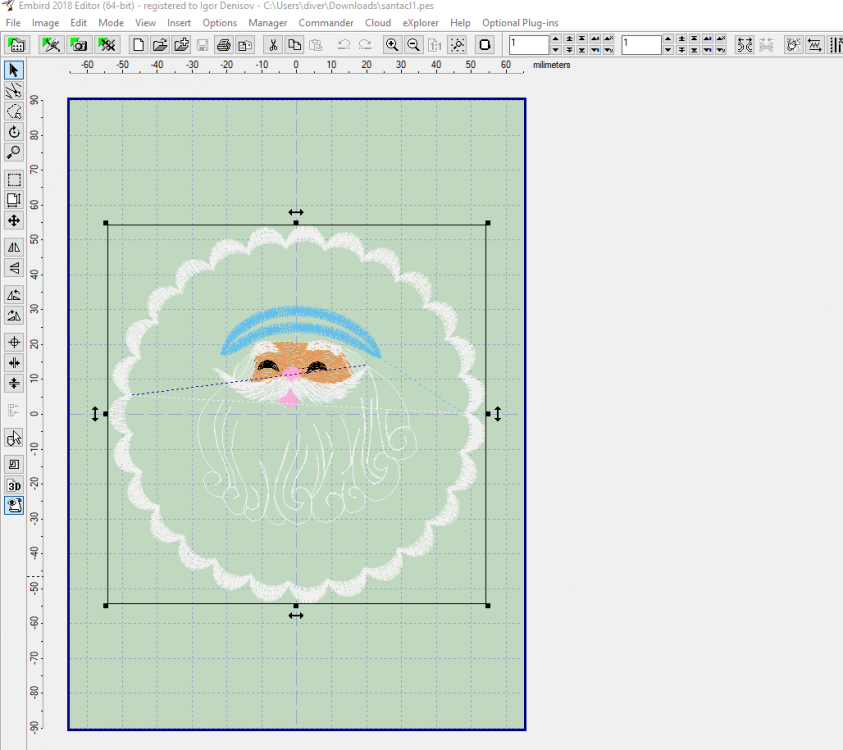 Open free embroidery design in Embird software