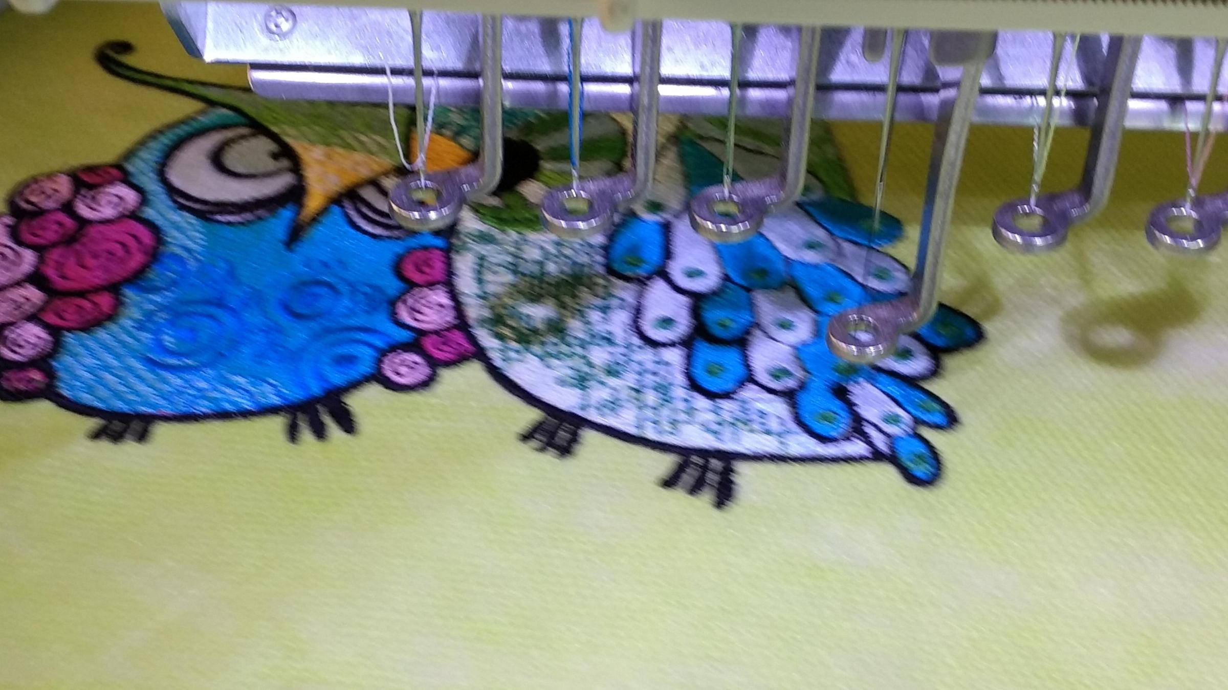 Grouсhy owls embroidery design in progress