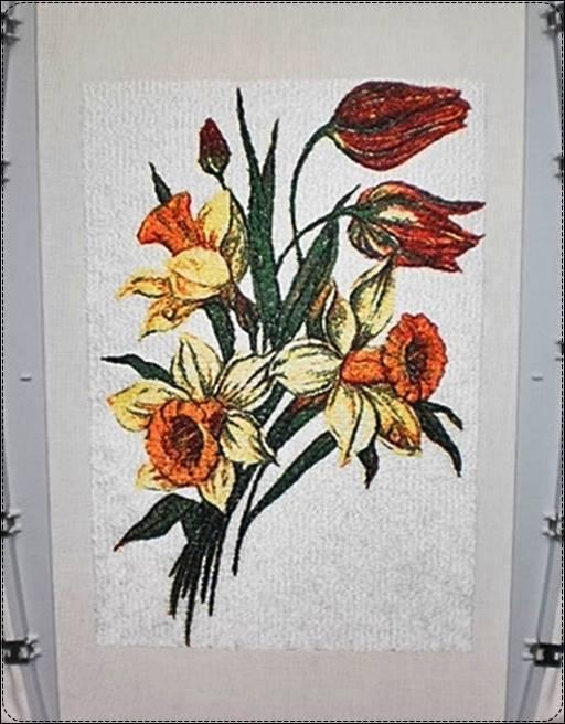 Daffodil free embroidery design