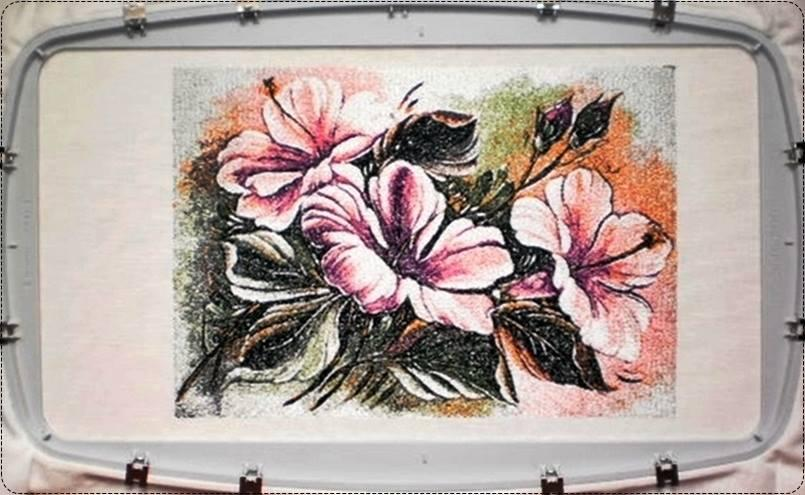 Flowers photo stitch free embroidery design