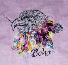 Boho eagle embroidery design