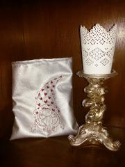 Embroidered gift bag with Christmas dwarf free design