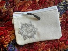 Embroidered purse with Snowflake design