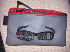 Embroidered handbag with Bar code glasses free design