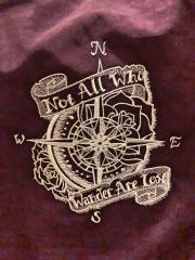 Wind rose embroidery design