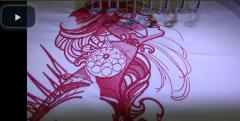 Dream time lady embroidery process in Happy HCH 701 machine