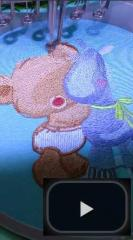 Teddy bear horse embroidery process