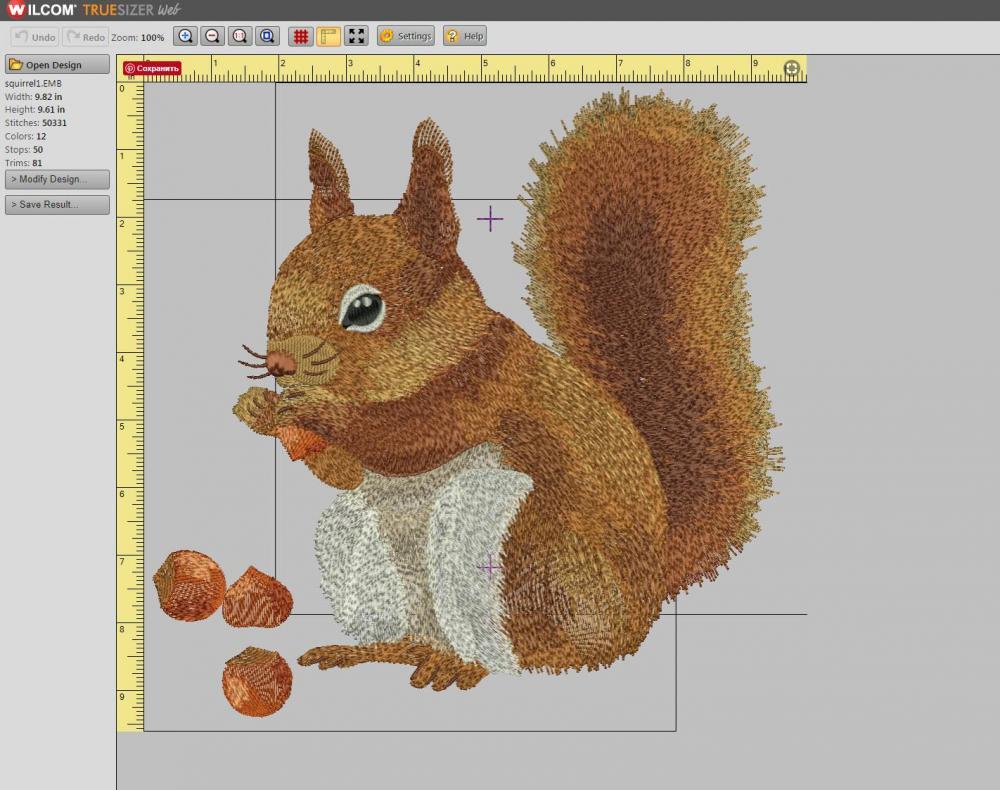 Wilcom truesizer web open squirrel file