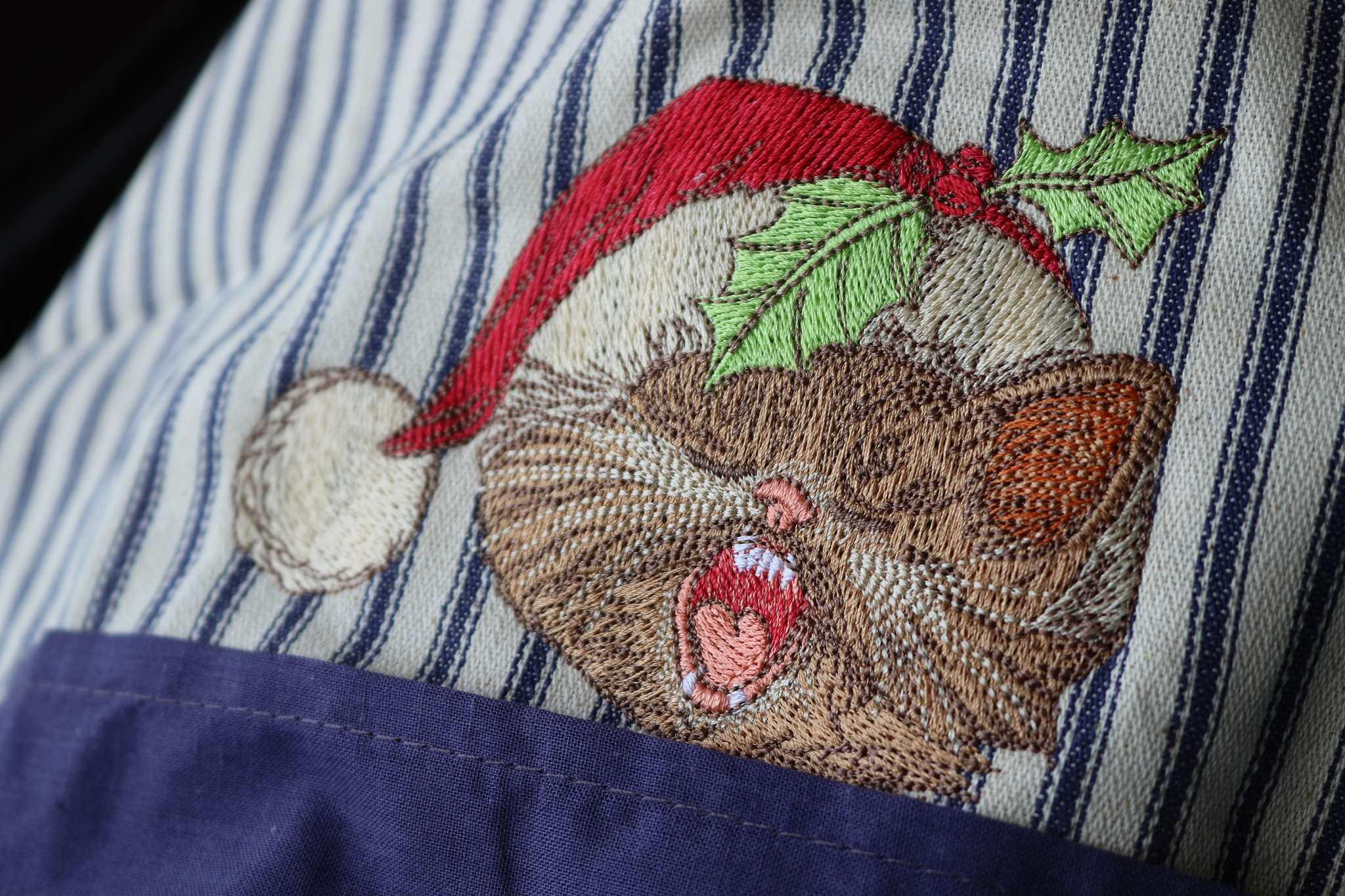 Singing cat embroidery design