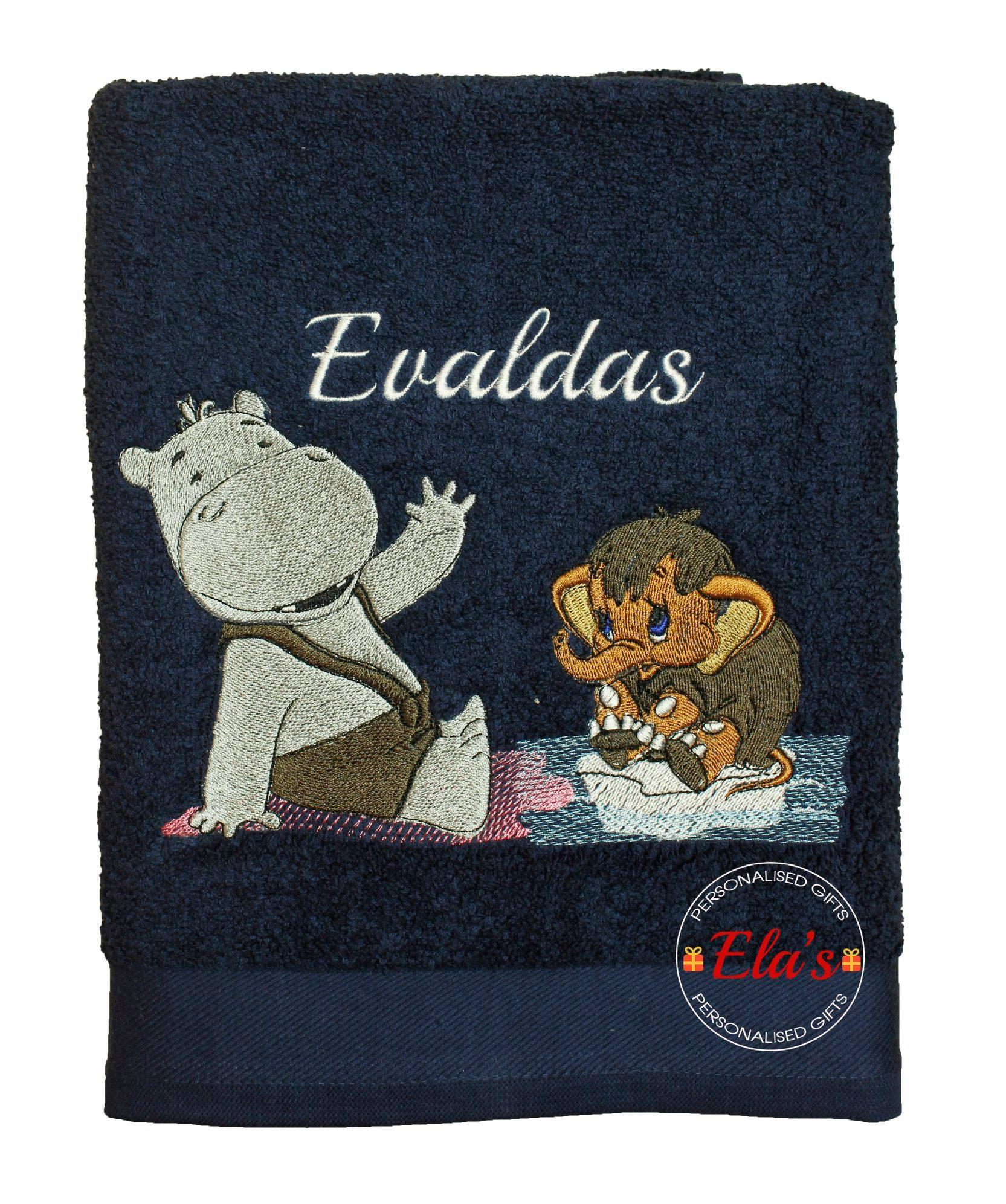 Embroidered towel with Mammoth free design