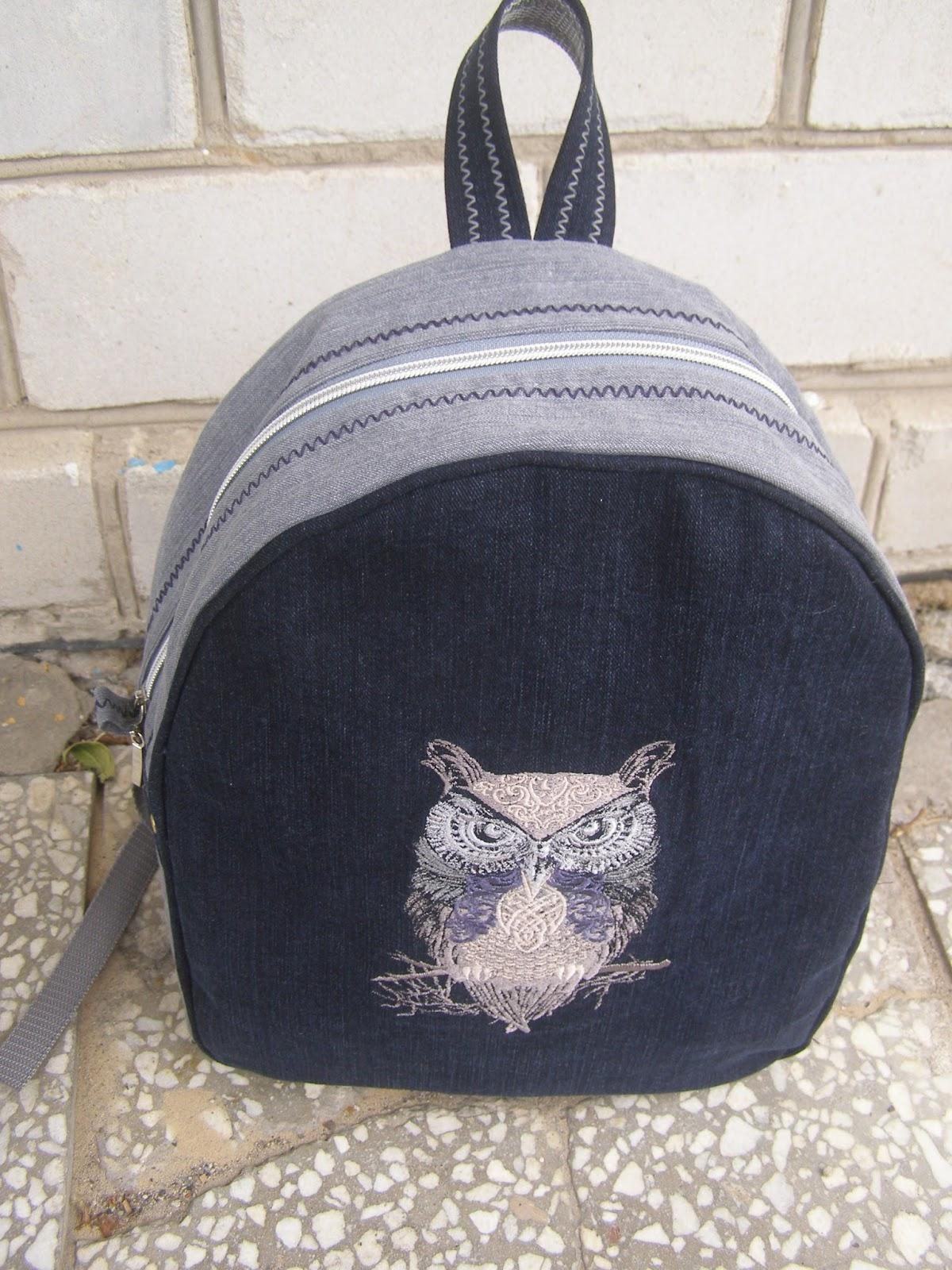 School backpack with Tribal owl design