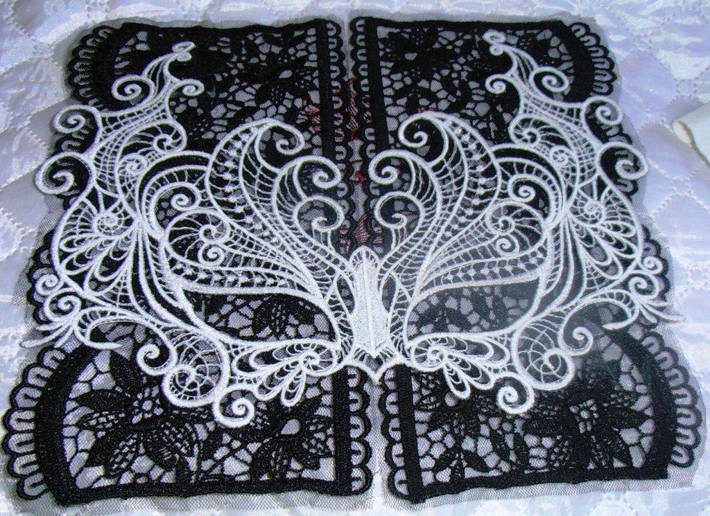 Mask Lace Embroidery Design Fsl And Lace Embroidery Showcase