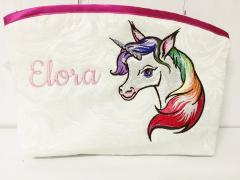 Embroidered handbag with Unicorn design