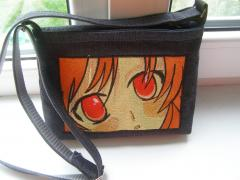Embroidered bag with Anime eyes design