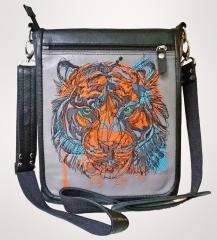 Embroidered bag with Bloody tiger design
