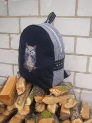 School bag with Tribal owl design