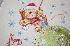 Teddy bear on Christmas toy design