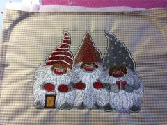 Three dwarves embroidery design