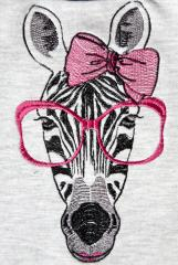 Embroidered Zebra free design