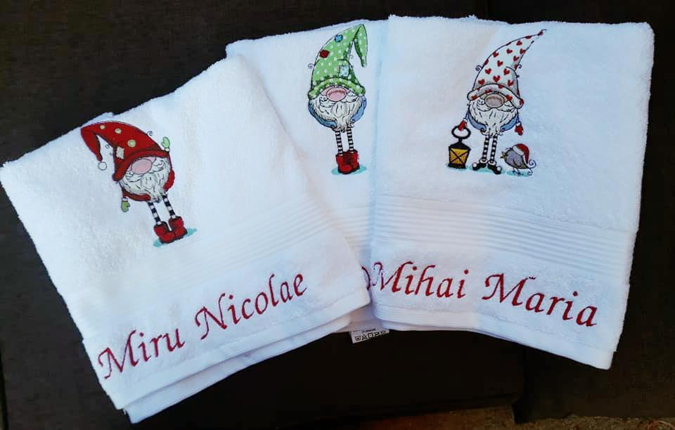 Сhristmas machine embroidery designs on towels