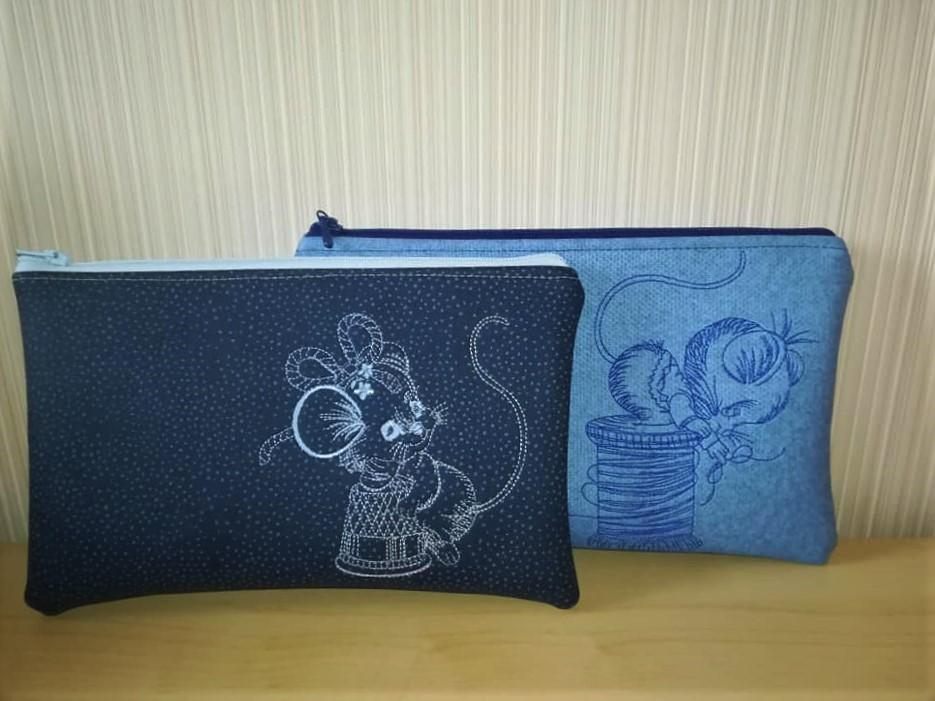 Set of two handbag with Mouse designs