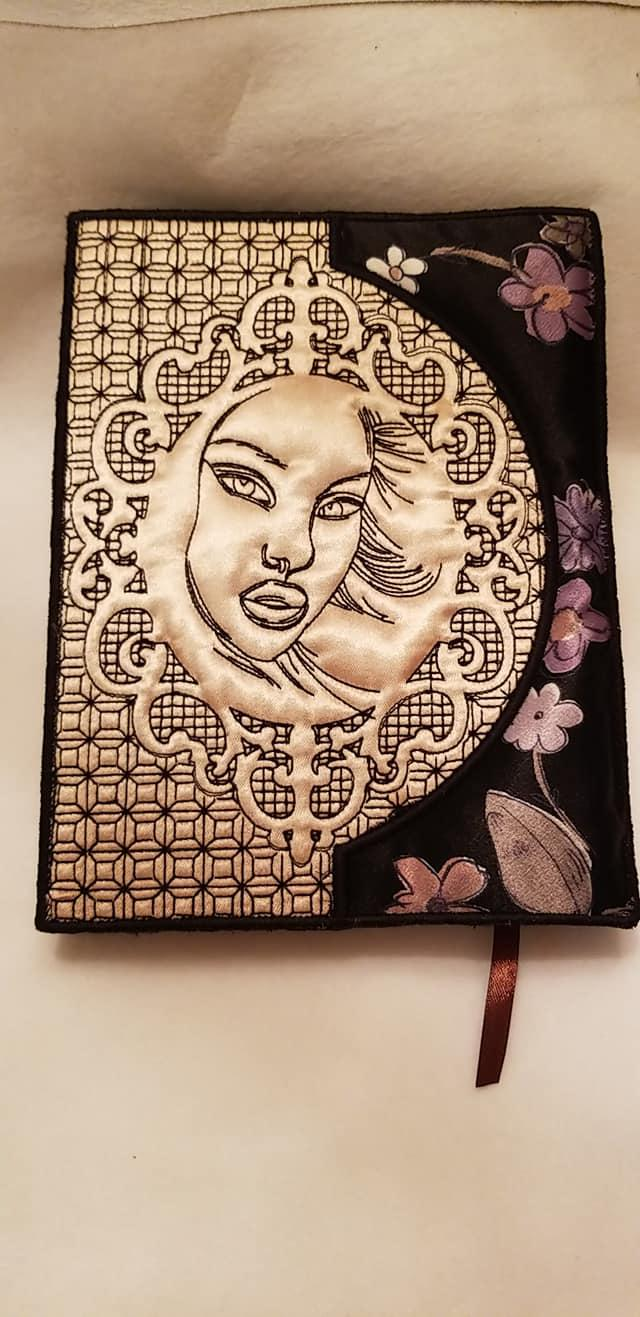 Embroidered case with Female face free design