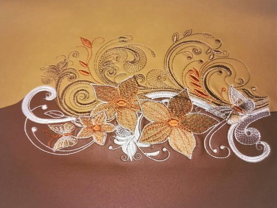 Night magic bouquet emrboidery design
