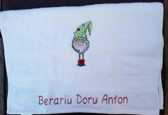 Сhristmas machine embroidery designs on towel