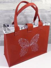 Embroidered bag with Buttefly design