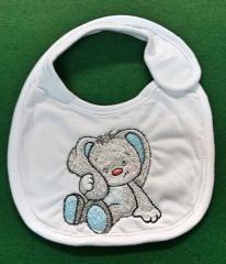 Embroidered bib with Funny bunny design